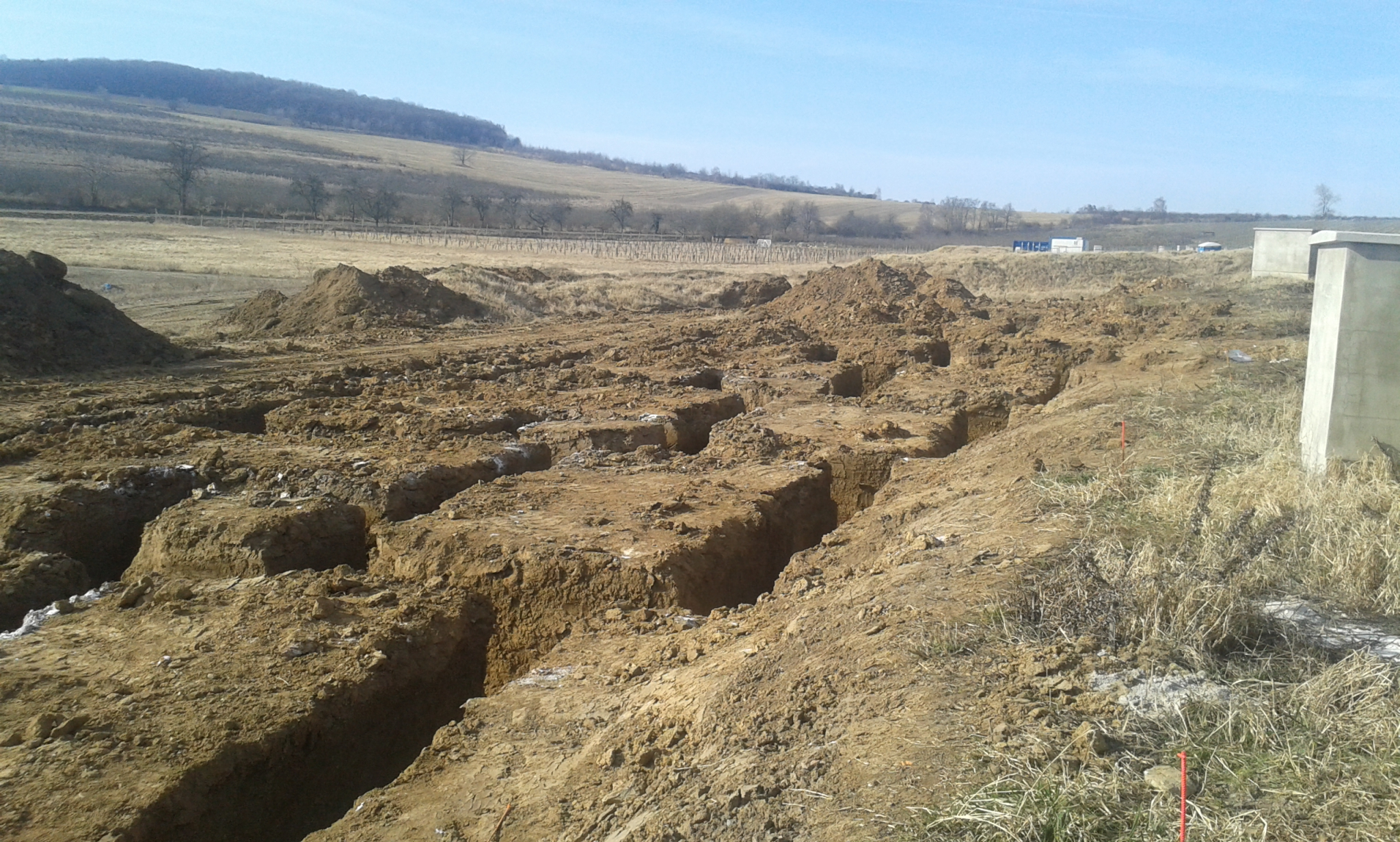 Construction of the new houses has begun
